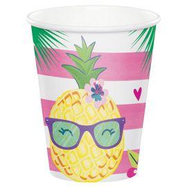 8 Vasos Tropical 266 ml