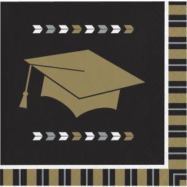 16 Servilletas Graduación 25 cm