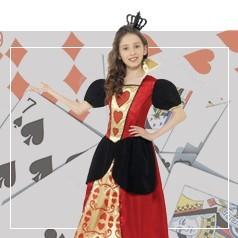 Disfraces de Reina de Corazones Niña