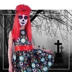 Disfraces Día de los Muertos Niña
