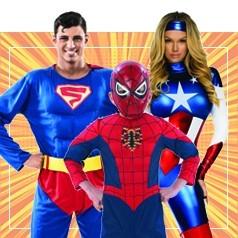 Disfraces de Superheroes en Familia