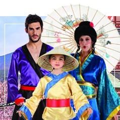Disfraces de Culturas y Paises en Familia
