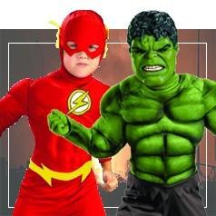 Disfraces en Pareja Infantiles de Superheroes