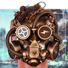Máscaras de Steampunk