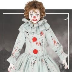 Disfraces de Payaso Diabólico para Niña