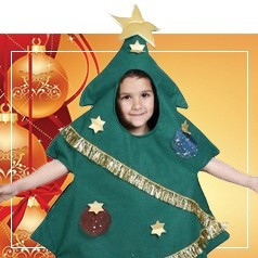 Disfraces de Árbol de Navidad Infantil