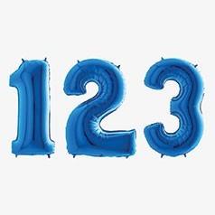 Globos Números Azules