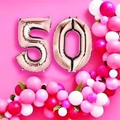Globos 50 Cumpleaños