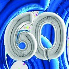 Globos 60 Cumpleaños