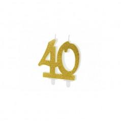 Velas 40 Cumpleaños