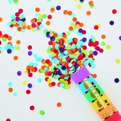 Cañones de Confeti de Colores