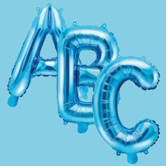 Globos de Letras Azules