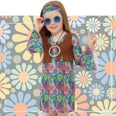Disfraces de Hippie Niña