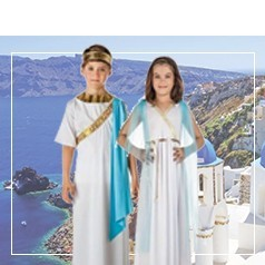 Disfraces de Griega y Griego Infantiles