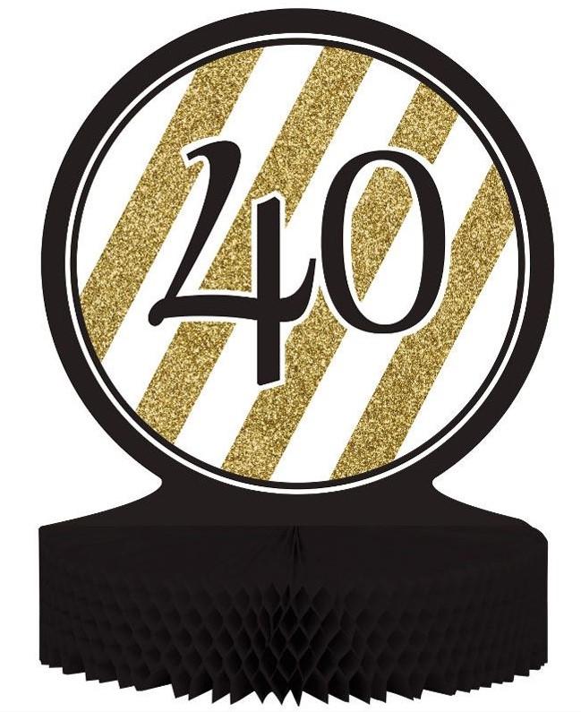 Compra decoraciones para tu 40 cumpleaños