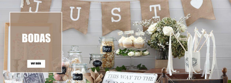 Ideas de decoración y artículos para bodas